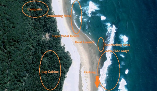 Cape Vidal Accommodation Reservations Log Cabins