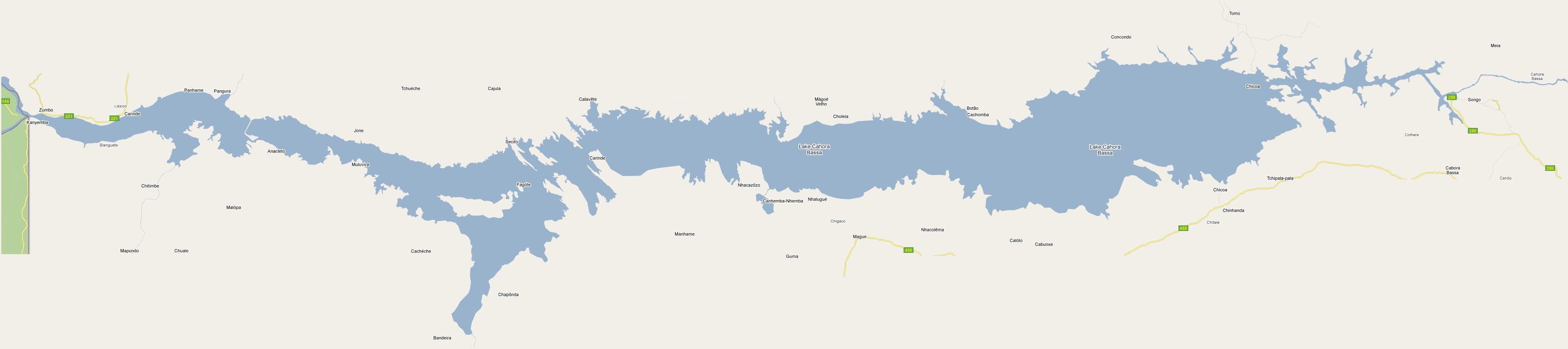 Zambezi River On Map Of Africa.Zambezi Maps