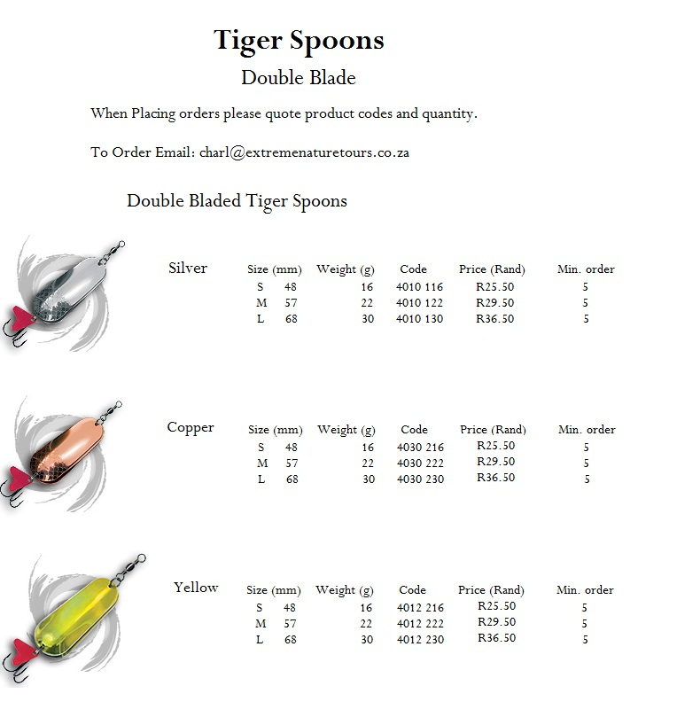Tiger fishing tackle for How to fishing